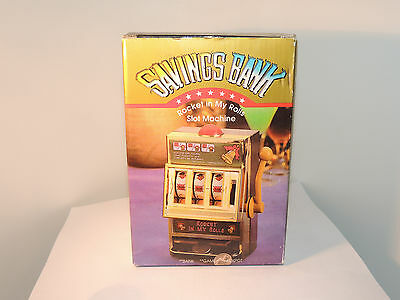 Rocket in My Rolls Slot Machine Savings Bank and Game 7 inches tall (8983)