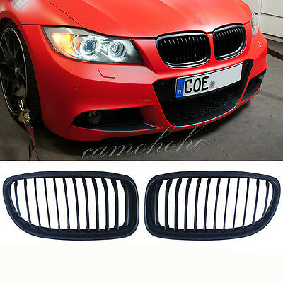 Black Front Kidney Grill Grille For  BMW E90 E91 LCI 325i 328i 335i 4D 09-11