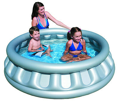 Outdoor Inflatable Space Ship Paddling Pool Swimming Pools Water Fun Spaceship