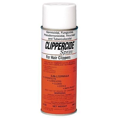Barbicide Clippercide Spray For Hair Clippers DisInfects Lubricates Cools 12oz