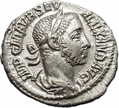 Severus Alexander Silver Ancient Roman Coin Mars Possibly Unpublished i51140