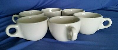 Vintage Mid Century Buffalo China Cups Restaurant Ware Mugs Diner Coffee White
