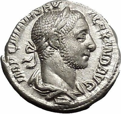 Severus Alexander 227AD Silver Ancient Roman Coin Equality Fairness i51142