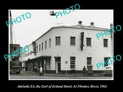 OLD LARGE HISTORIC PHOTO OF ADELAIDE SA, THE EARL OF ZETLAND HOTEL c1964