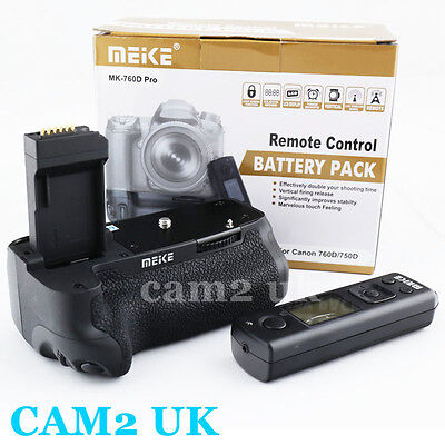 Meike Pro 2.4G Wireless Remote Control Battery Grip for Canon 750D 760D BG-E18