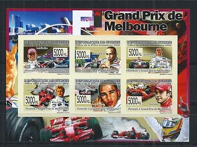 GUINEA 2008 MiNr: 5789 - 94 IMPERF FORMULA ONE GRAND PRIX MELBOURNE