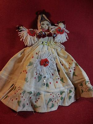 Vintage Chinese made Cloth doll / angel Ornament