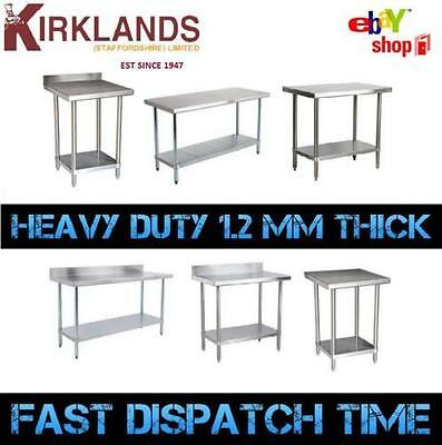 STAINLESS STEEL TABLE Catering Work Bench Table Kitchen Top Ft To - 6ft stainless steel table