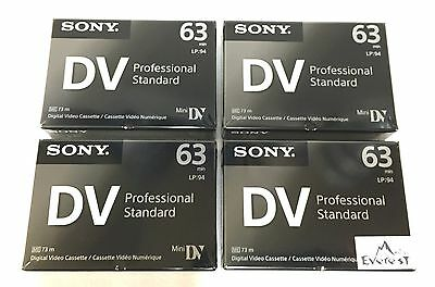 Sony DVM63PS Mini DV Minidv Camcorder video 63min Professional Tape 4 Pack