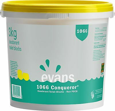 EVANS 1066 CONQUEROR - Deodorant Toilet/Urinal Channel Blocks (Non PDCB) (3kg)