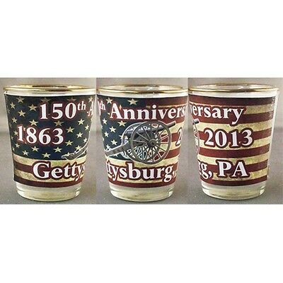 Gettysburg 150Th Anniversary Civil War American Flag Shot Glass New