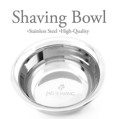 JAG SHAVING Shaving Bowl Stainless Steel HIGH QUALITY Made in ENGLAND