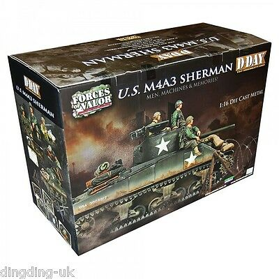 Forces Of Valor 1/16 Usa M4A3 Sherman D-Day Commemorative Series Diecast Tank Uk