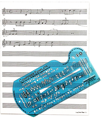 Song Writer's Composing Template for Music Notes & Symbols with Staff Paper