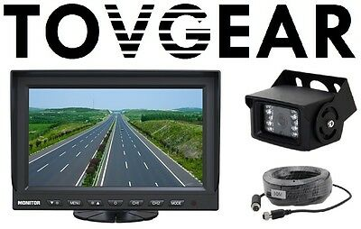 """TovGear 7"""" Inch Rear View Backup Camera System For Truck Bus RV"""