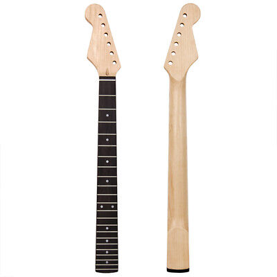 Lefty Left Handed Electric Guitar Neck Maple Rosewood 22 Fret For ST Parts