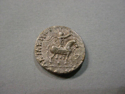 Indo Greek Silver Coin With Karosthi Legend #e4028