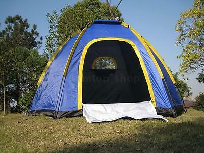 Outdoor Camping Tent Waterproof Double-Sided 3-4 Person Instant Camping Family