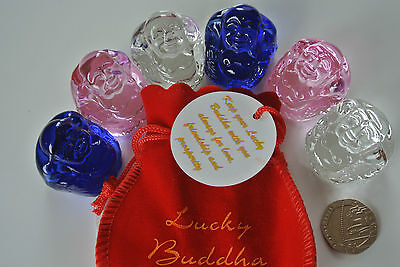 Lucky Buddha - In a Red Velveteen Pouch
