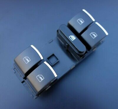 Skoda Octavia Superb Chrome Front Window Control Switch Button Driver Side Green
