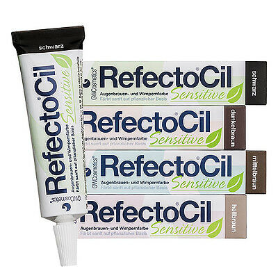 RefectoCil  SENSITIVE  Eyebrow and eyelash tint fo, various colours, 15ML,
