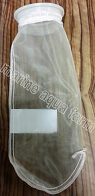 "AQUARIUM 4"" x 14"" LONG NYLON MESH FILTER SOCK IN 100 & 200 MICRONS, SUMP FELT MA"