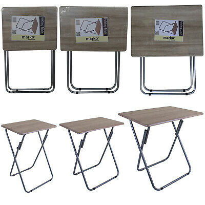 Tv Table Folding Dinner Table 3 Sizes Space Saving Student Art Home Desk Table
