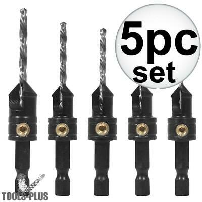 5pc Quick Chuck Countersinking Set Snappy 40030 New