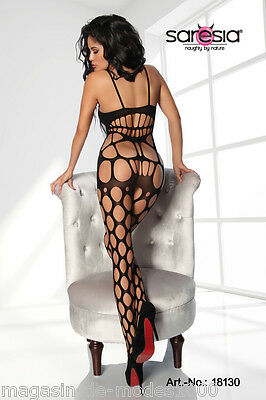 Sexy Bodystocking ouvert Reizwäsche Catsuit Dessous Body  Netzbody