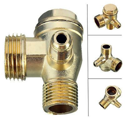 Brass Male Threaded Check Valve Connector for Air Compressor D:5mm/10mm/15mm
