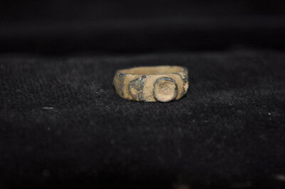 Ancient Bronze Ring Byzantine Period E4055 • CAD $63.00