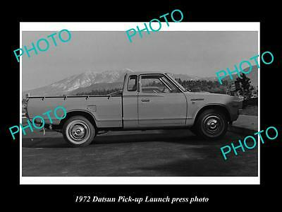 OLD LARGE HISTORIC PHOTO OF 1972 DATSUN PICK-UP LAUNCH PRESS PHOTO