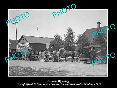 OLD LARGE HISTORIC PHOTO LARAMIE WYOMING, VIEW OF THE ALFRED NELSON Co c1910
