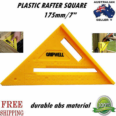 """175mm/7"""" ABS Plastic Quick speed Rafter Angle protractor saw guide square degree"""
