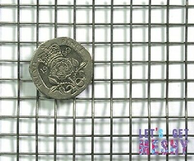 """Stainless Steel (304) 1/4"""" x 1/4"""" Welded Wire Mesh 0.81mm Wire 1m x 1.22m"""