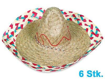 Lot de 6 Chapeaux Sombrero Mexicain chapeau déguisement plage beach party SH-40
