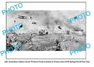 OLD LARGE PHOTO, WWI AIF ANZACS, AUST SOLDIERS ON THE WESTERN FRONT 1918