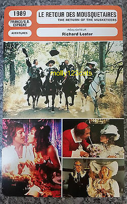 UK Movie The Return Of The Musketeers Michael York French Film Trade Card