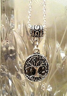 TREE of LIFE COIN Pendant on 925 Sterling Silver Chain Necklace, Christian