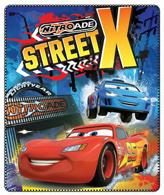 Disney Cars Fleece Blanket Street X Character Size 120 X 140Cm Official