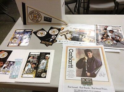 Ray Bourque Ray's To The Rafters Collection W/ Autograph And Tickets And More