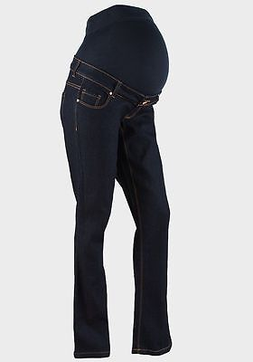 Maternity New Look Over The Bump Bootcut Jeans Blue Sizes 8 10 12 (New)