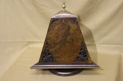 1840's Rotating Burlwood Portrait Display Picture Frame Stand Amazing Condition