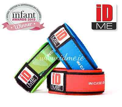 Child safety ID Band Medical Identity Bracelet Lost Find Small Children ID ME