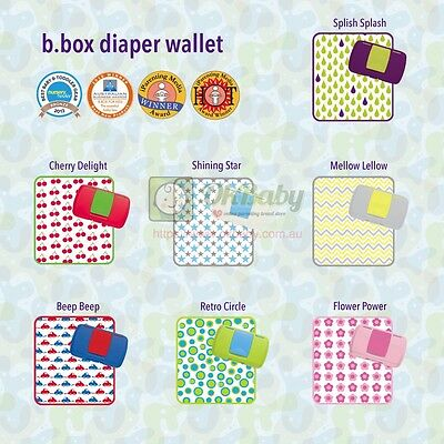 b.box all in one diaper wallet with nappy storage, change mat & wipes case