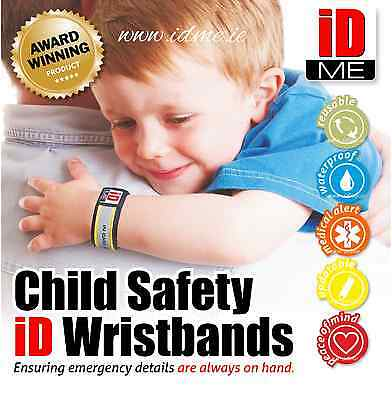 Kids outdoor Safety ID Wristband AWARD winning child safety bracelet lost child