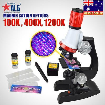 Science Microscope 100x 400x 1200x Laboratory Chemistry Bio Learn Fun KidsToys