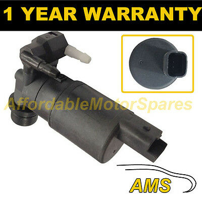 For Citroen C3 2002- Front & Rear Twin Outlet Windscreen Washer Water Pump