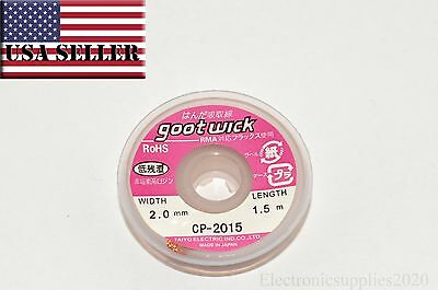 Wick Braid Desoldering Solder Remover 2mm x 5ft. Flux Saturated PCB Rework - USA