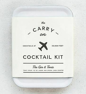 The Carry On Cocktail Kit - The Gin & Tonic White Travel Tin By W&P Design